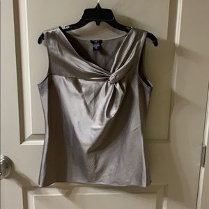 Ann Taylor bronze/brown satiny tank